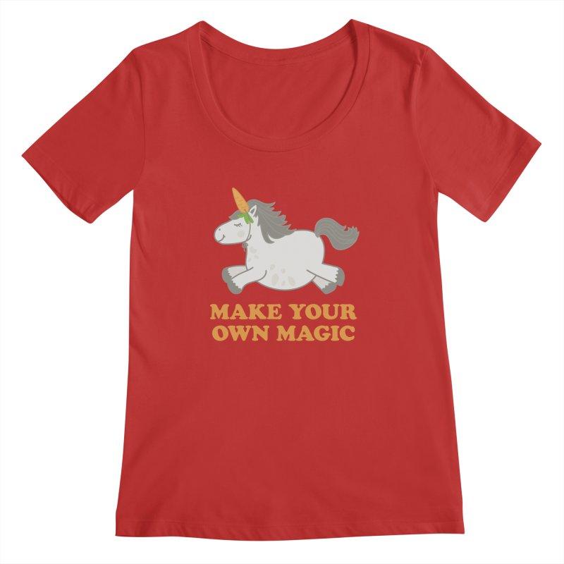 Make Your Own Magic Women's Regular Scoop Neck by Calobee Doodles