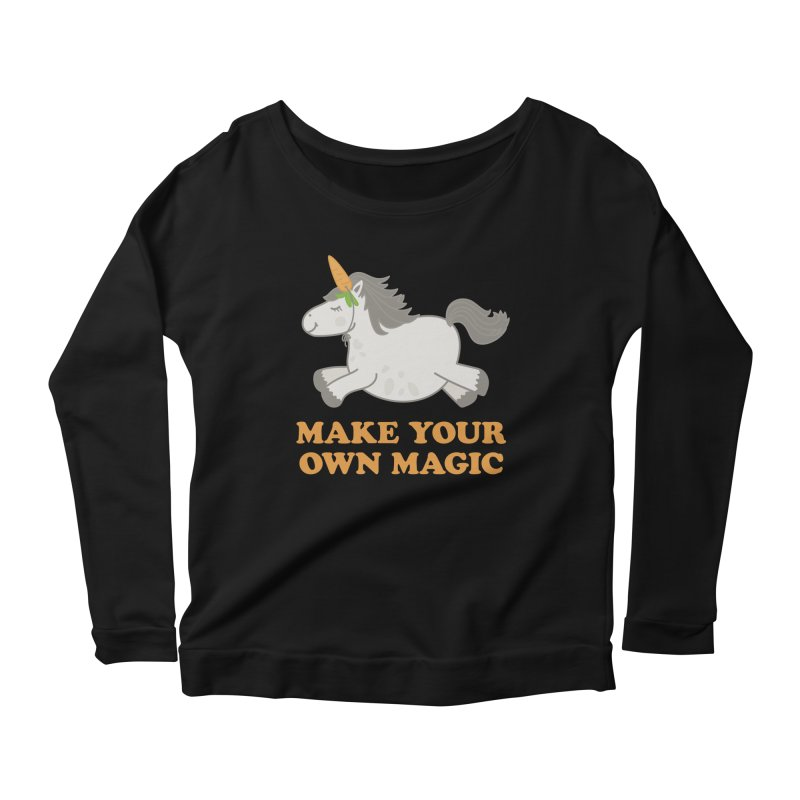 Make Your Own Magic Women's Scoop Neck Longsleeve T-Shirt by Calobee Doodles