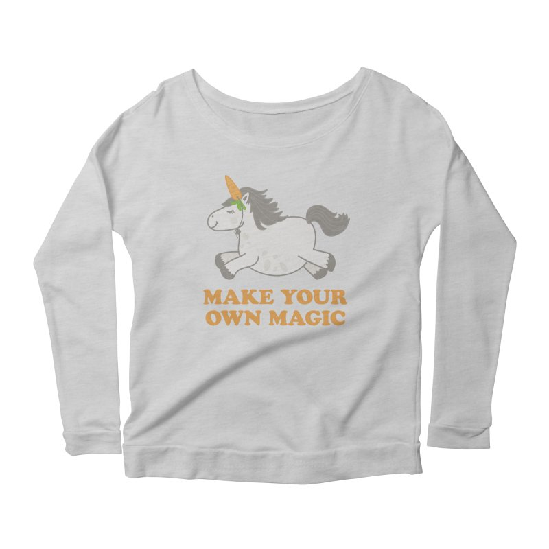 Make Your Own Magic Women's Longsleeve Scoopneck  by Calobee Doodles