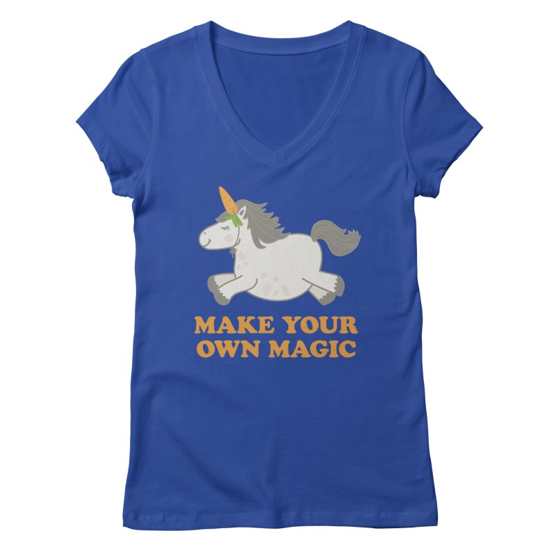 Make Your Own Magic Women's Regular V-Neck by Calobee Doodles