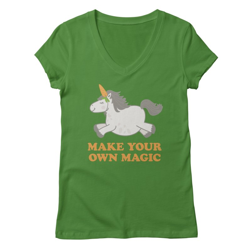 Make Your Own Magic Women's V-Neck by Calobee Doodles