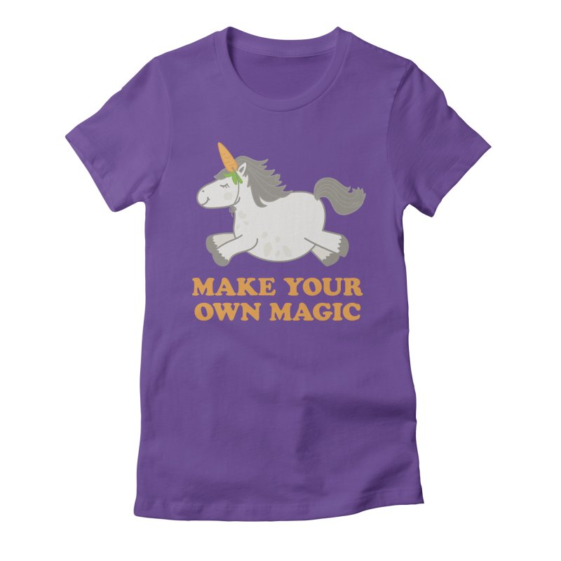 Make Your Own Magic Women's Fitted T-Shirt by Calobee Doodles