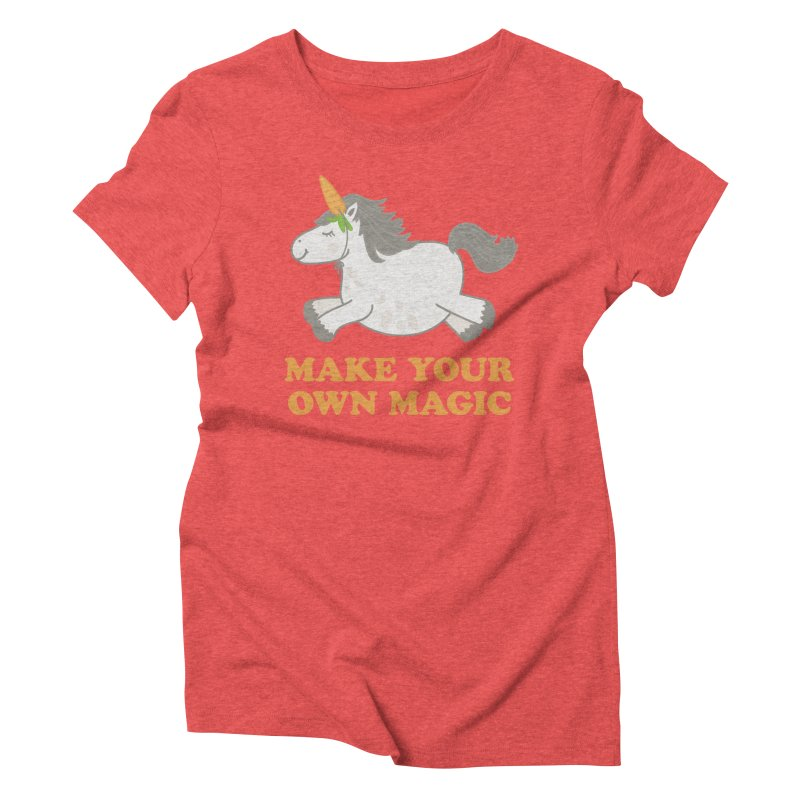Make Your Own Magic Women's Triblend T-Shirt by Calobee Doodles