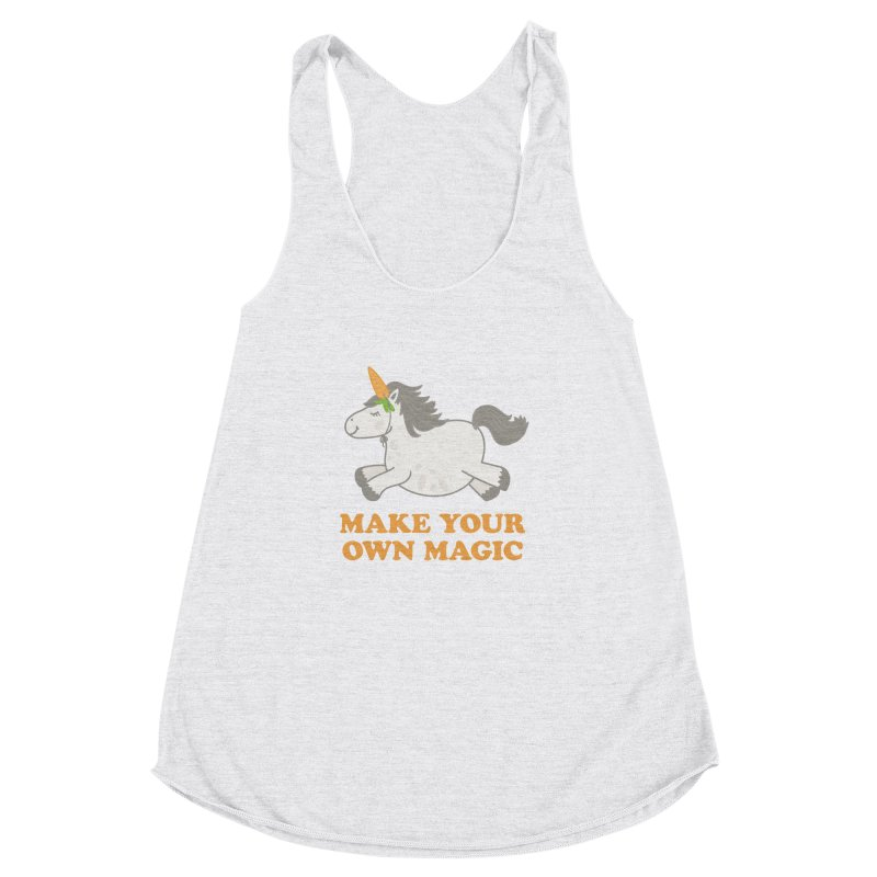 Make Your Own Magic Women's Racerback Triblend Tank by Calobee Doodles