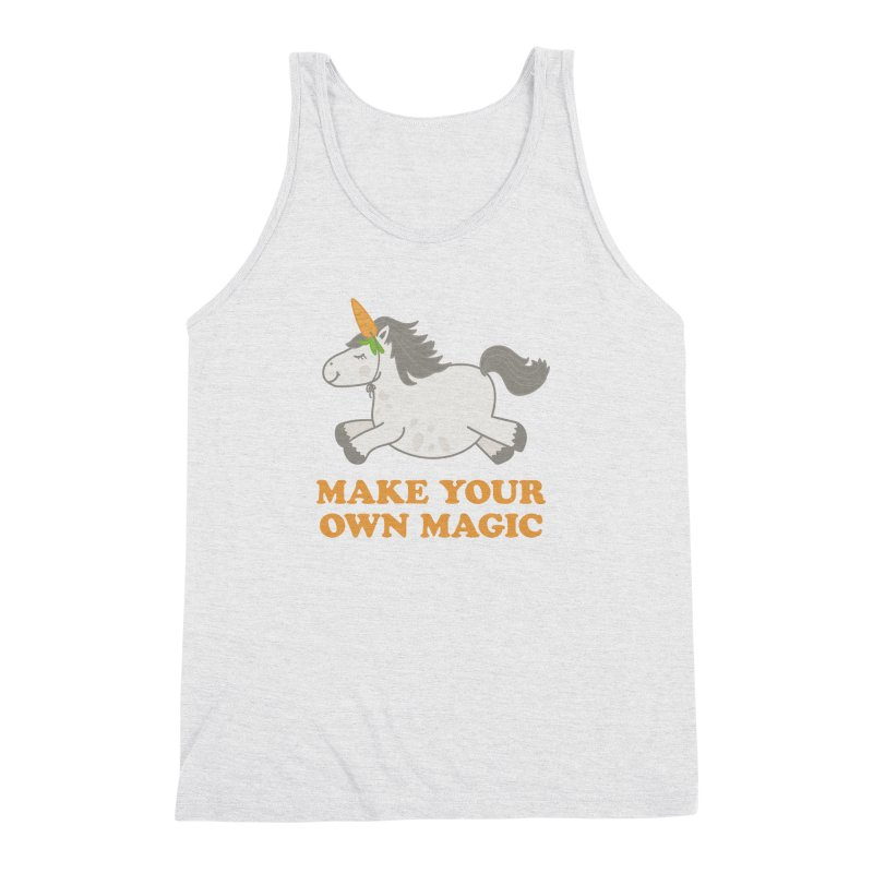 Make Your Own Magic Men's Triblend Tank by Calobee Doodles