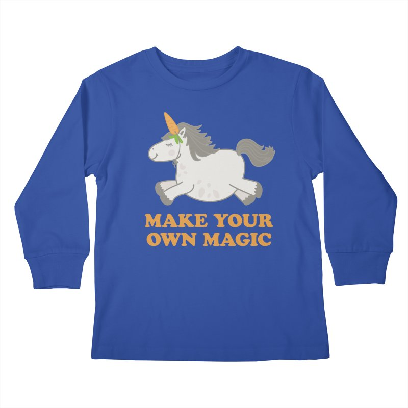 Make Your Own Magic Kids Longsleeve T-Shirt by Calobee Doodles