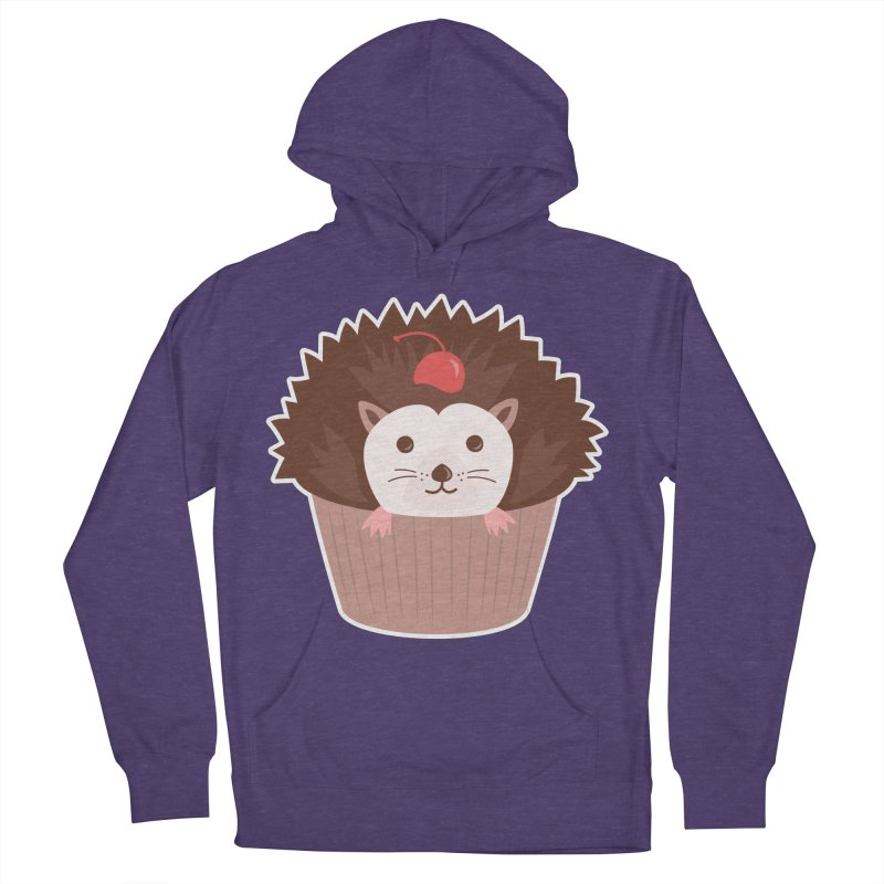 Hedgecake Men's French Terry Pullover Hoody by Calobee Doodles