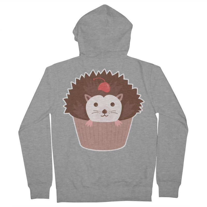Hedgecake Women's French Terry Zip-Up Hoody by Calobee Doodles
