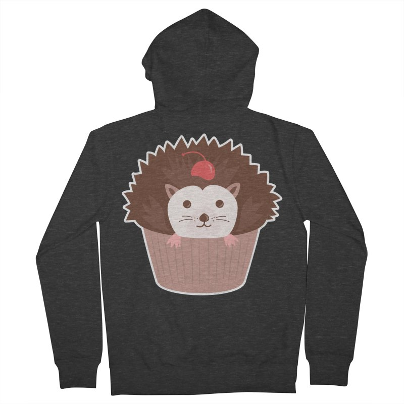 Hedgecake Men's Zip-Up Hoody by Calobee Doodles
