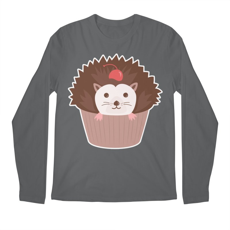 Hedgecake Men's Regular Longsleeve T-Shirt by Calobee Doodles