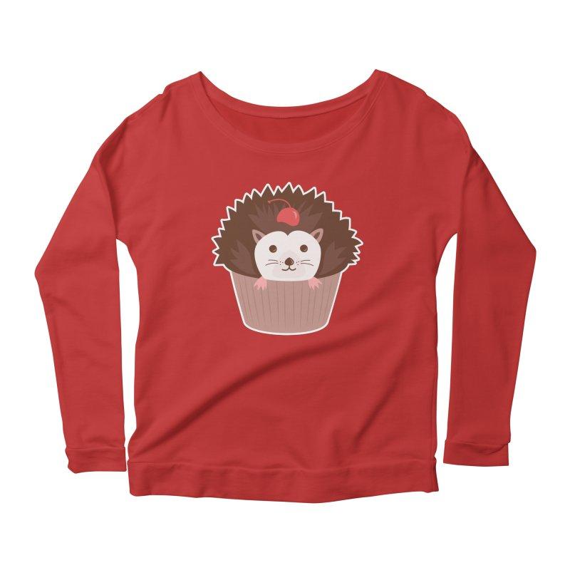 Hedgecake Women's Scoop Neck Longsleeve T-Shirt by Calobee Doodles