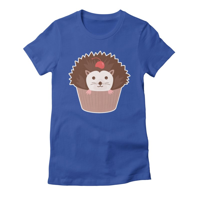 Hedgecake Women's Fitted T-Shirt by Calobee Doodles