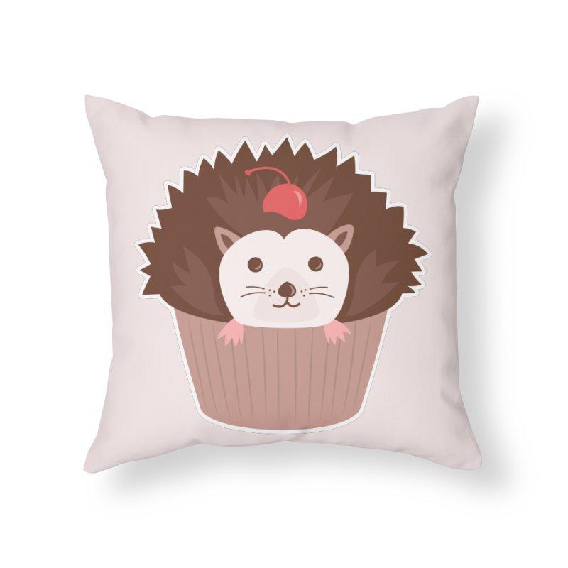 Hedgecake Home Throw Pillow by Calobee Doodles