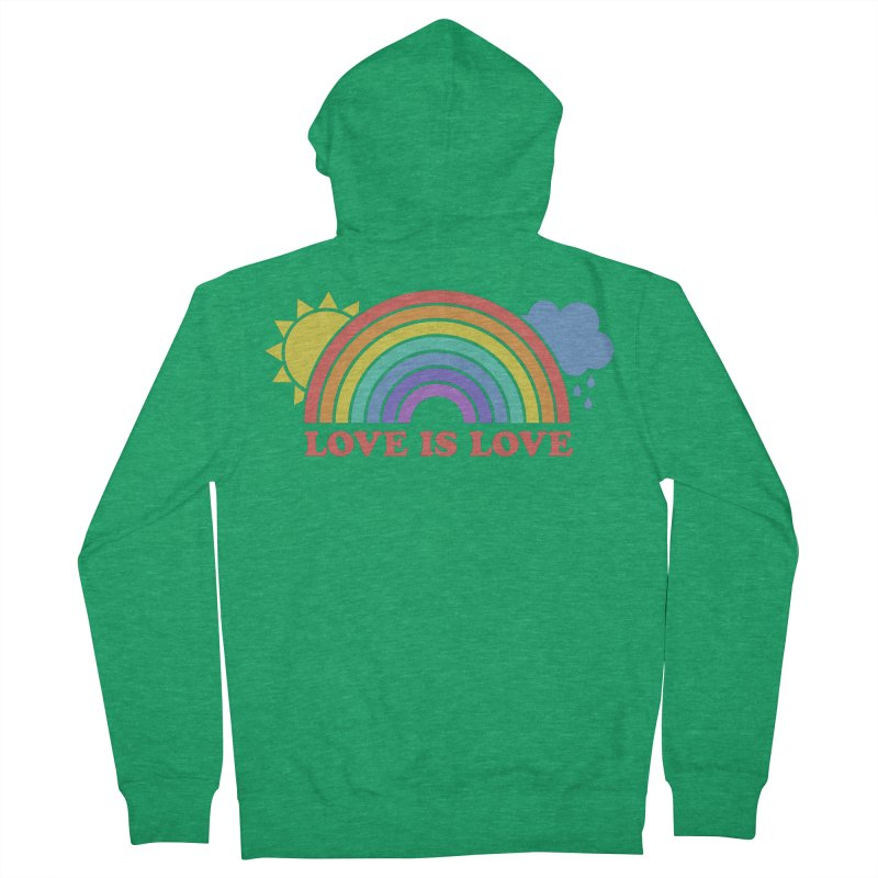 Love is Love Men's Zip-Up Hoody by Calobee Doodles