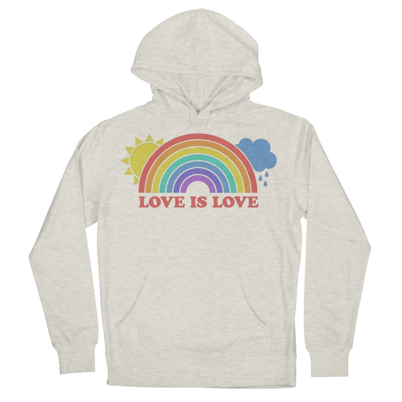 Love is Love Men's French Terry Pullover Hoody by Calobee Doodles