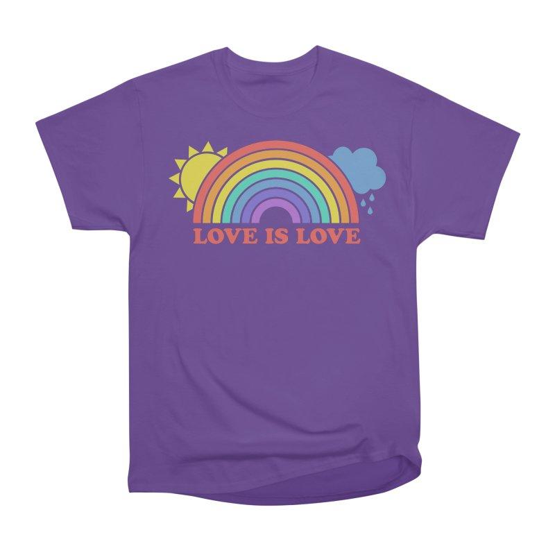 Love is Love Women's Heavyweight Unisex T-Shirt by Calobee Doodles
