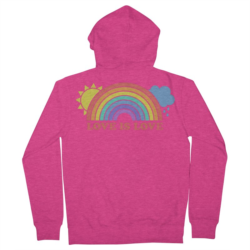 Love is Love Women's French Terry Zip-Up Hoody by Calobee Doodles