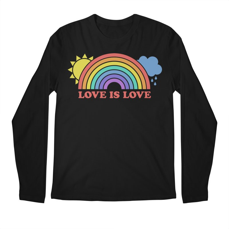 Love is Love Men's Regular Longsleeve T-Shirt by Calobee Doodles