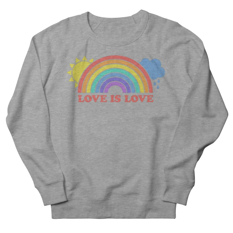 Love is Love Men's French Terry Sweatshirt by Calobee Doodles