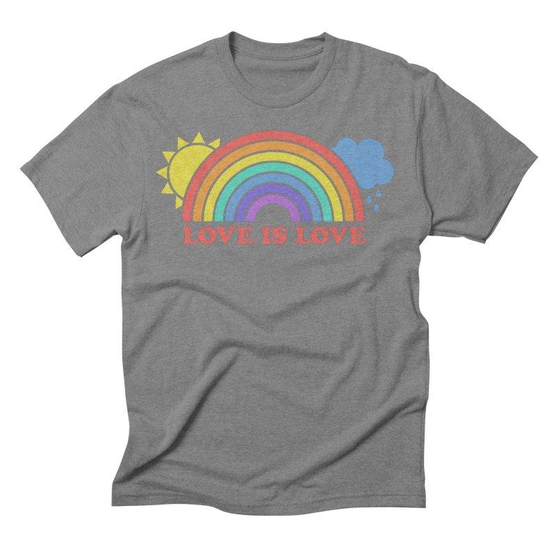 Love is Love Men's Triblend T-Shirt by Calobee Doodles