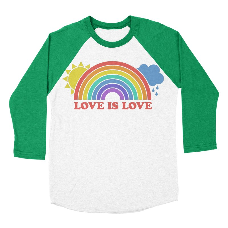 Love is Love Women's Baseball Triblend Longsleeve T-Shirt by Calobee Doodles