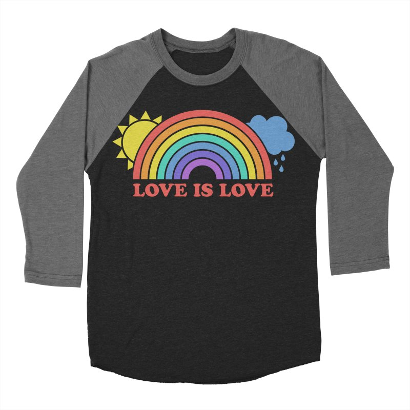 Love is Love Women's Baseball Triblend T-Shirt by Calobee Doodles