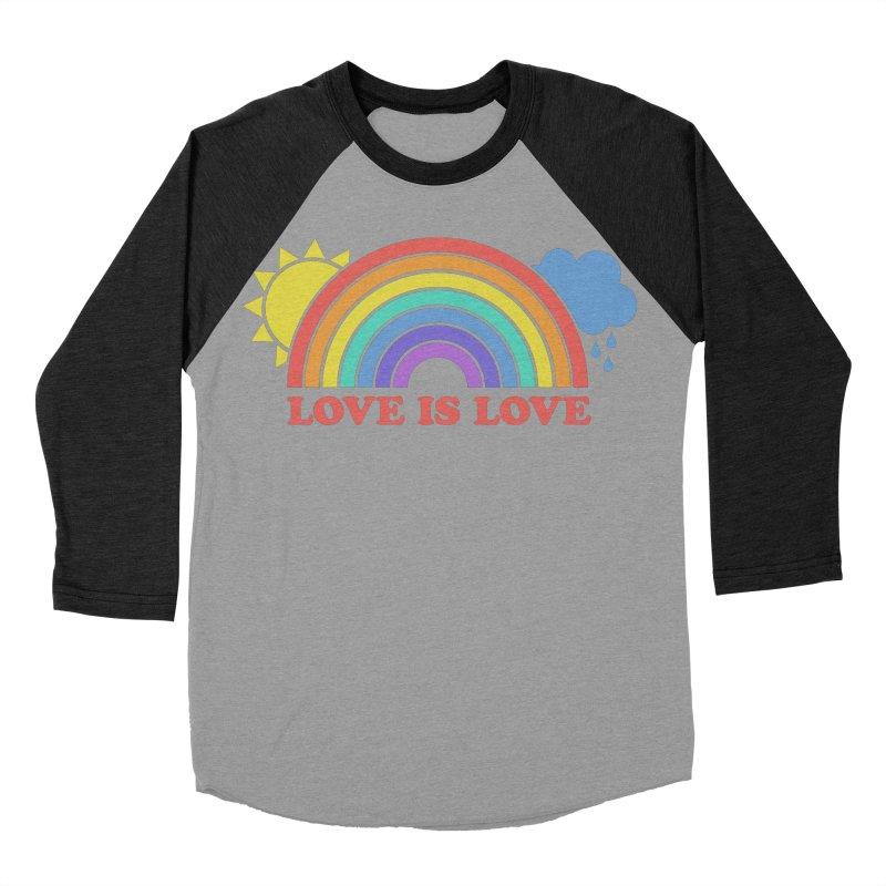 Love is Love Women's Baseball Triblend Longsleeve T-Shirt by Calobee Doodles