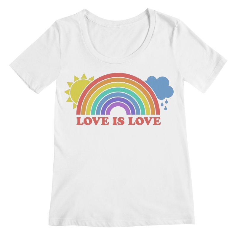 Love is Love Women's Regular Scoop Neck by Calobee Doodles