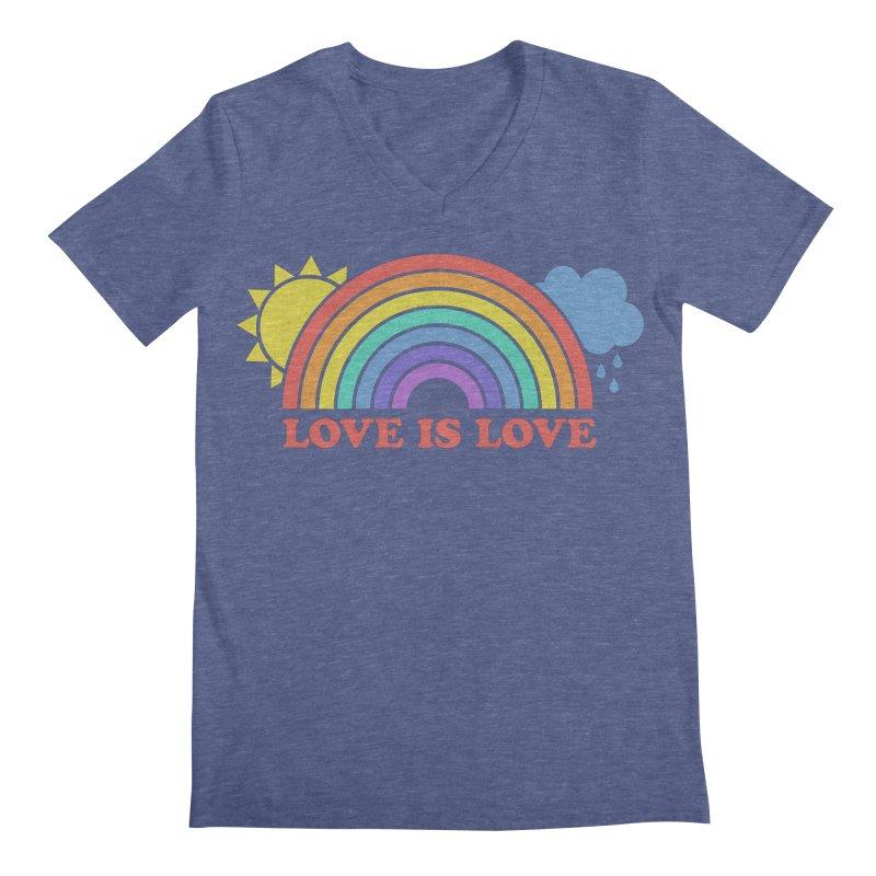 Love is Love Men's Regular V-Neck by Calobee Doodles