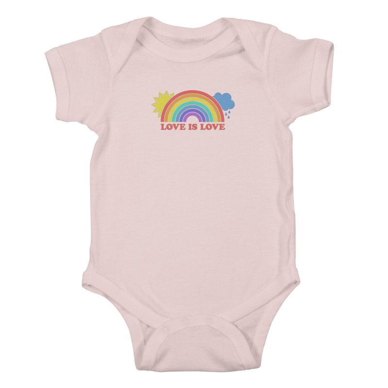 Love is Love Kids Baby Bodysuit by Calobee Doodles