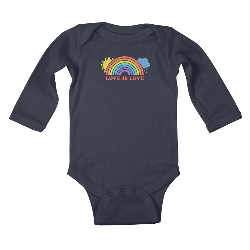 Love is Love Kids Baby Longsleeve Bodysuit by Calobee Doodles