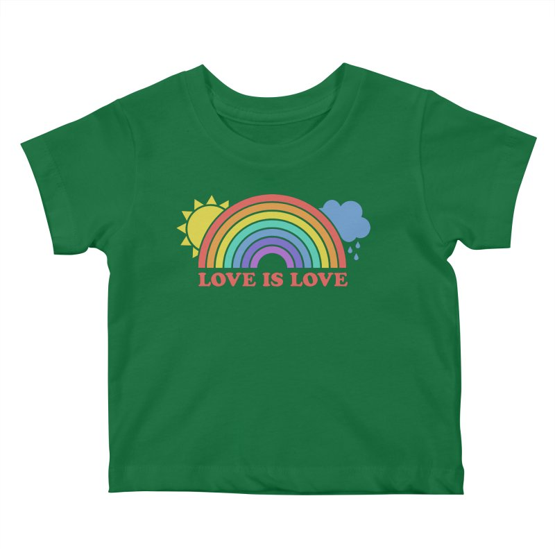 Love is Love Kids Baby T-Shirt by Calobee Doodles