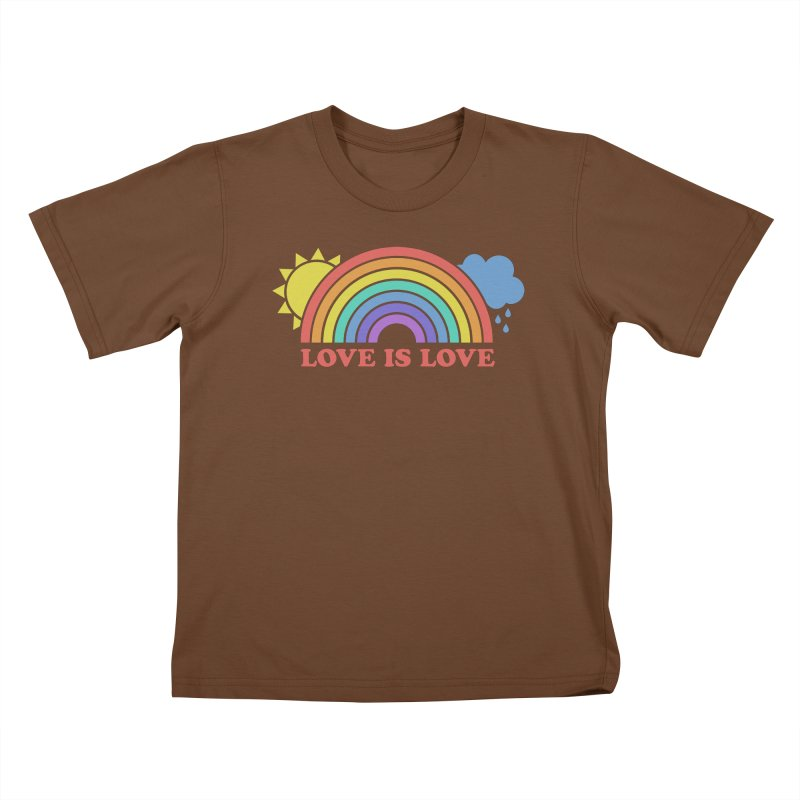 Love is Love Kids T-Shirt by Calobee Doodles