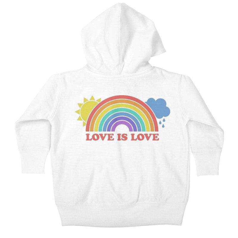 Love is Love Kids Baby Zip-Up Hoody by Calobee Doodles