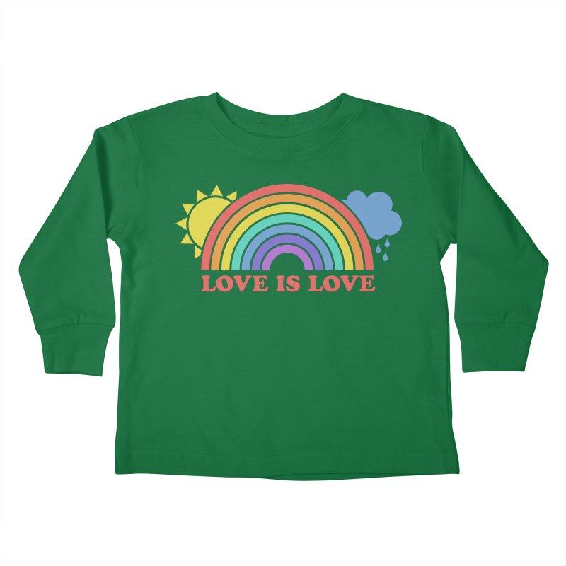 Love is Love Kids Toddler Longsleeve T-Shirt by Calobee Doodles