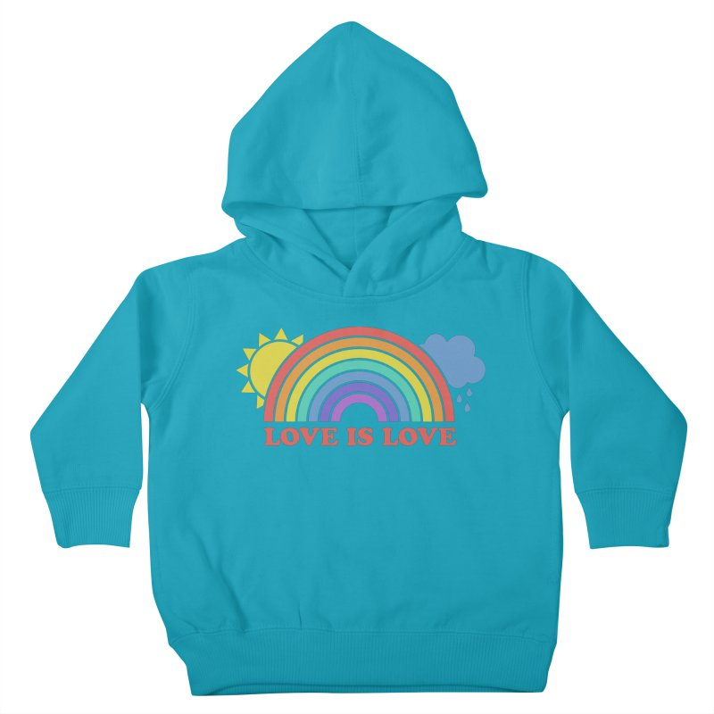 Love is Love Kids Toddler Pullover Hoody by Calobee Doodles