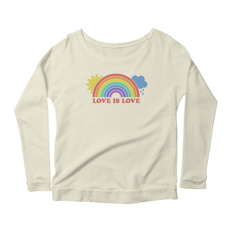 Love is Love Women's Scoop Neck Longsleeve T-Shirt by Calobee Doodles