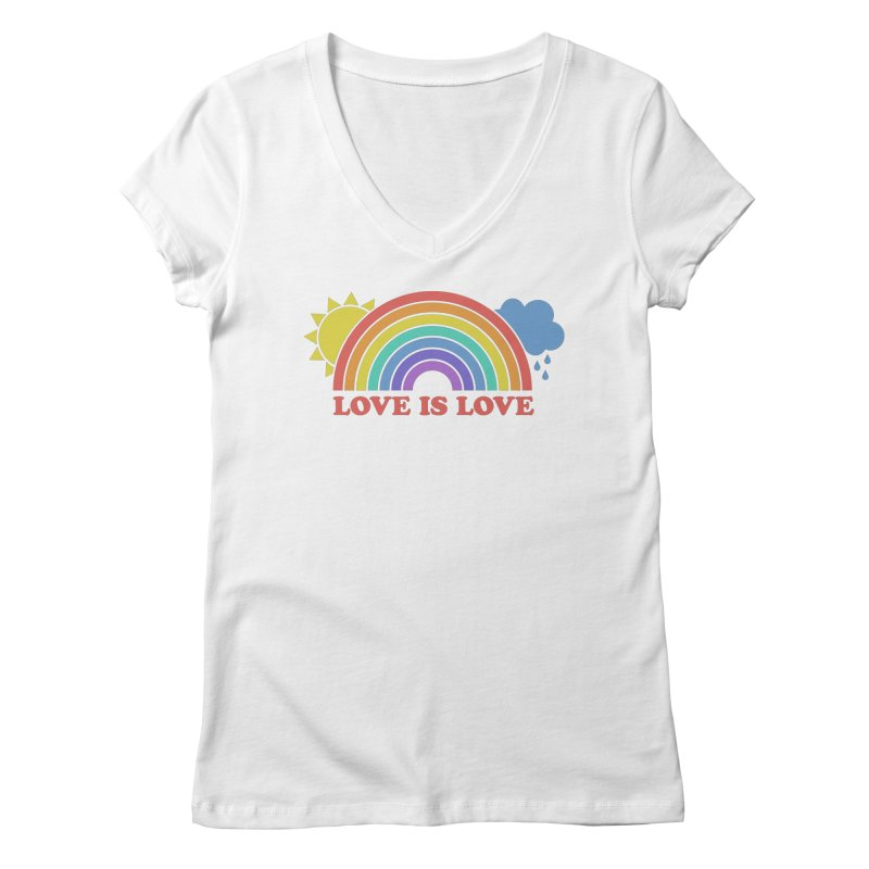 Love is Love Women's V-Neck by Calobee Doodles