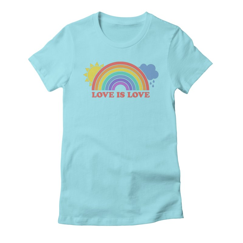 Love is Love Women's Fitted T-Shirt by Calobee Doodles