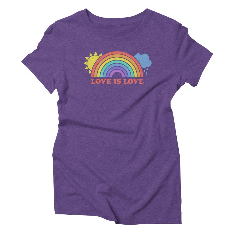 Love is Love Women's Triblend T-Shirt by Calobee Doodles