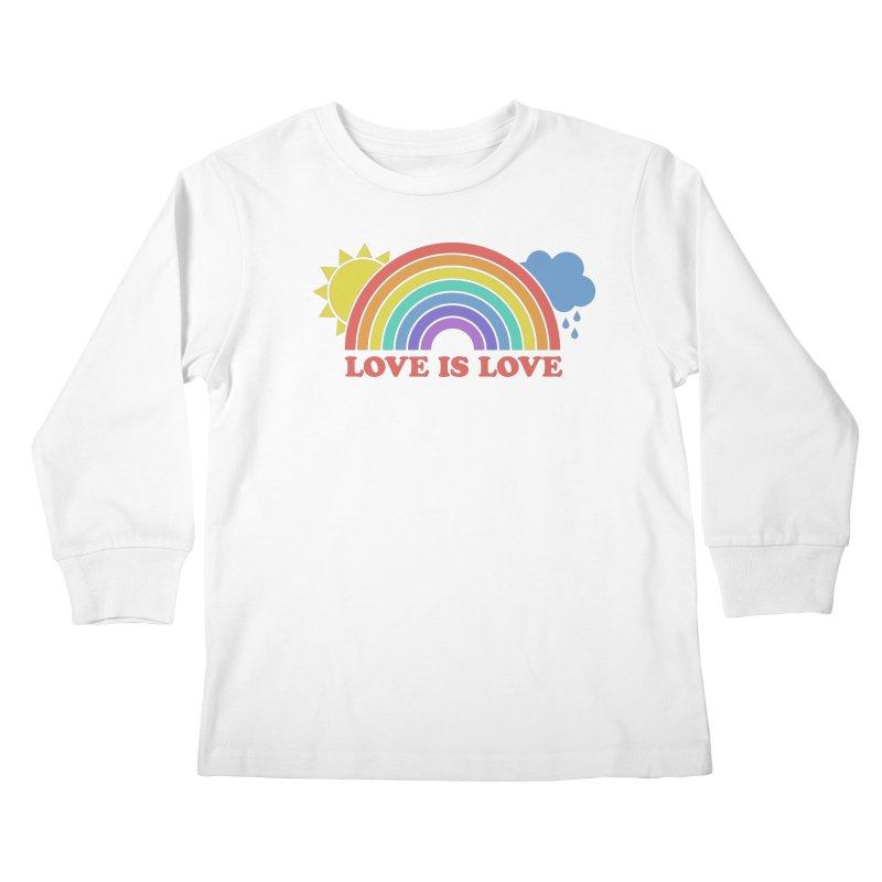 Love is Love Kids Longsleeve T-Shirt by Calobee Doodles