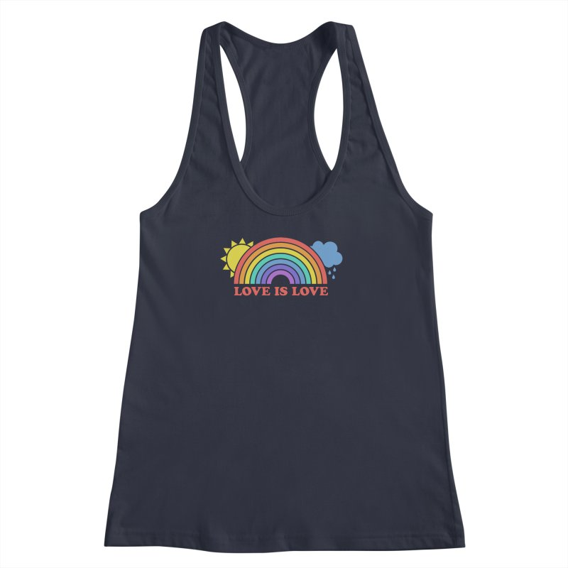 Love is Love Women's Racerback Tank by Calobee Doodles