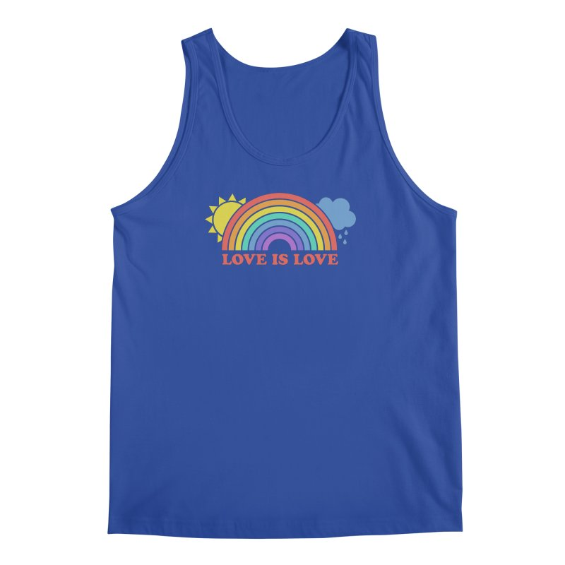 Love is Love Men's Regular Tank by Calobee Doodles