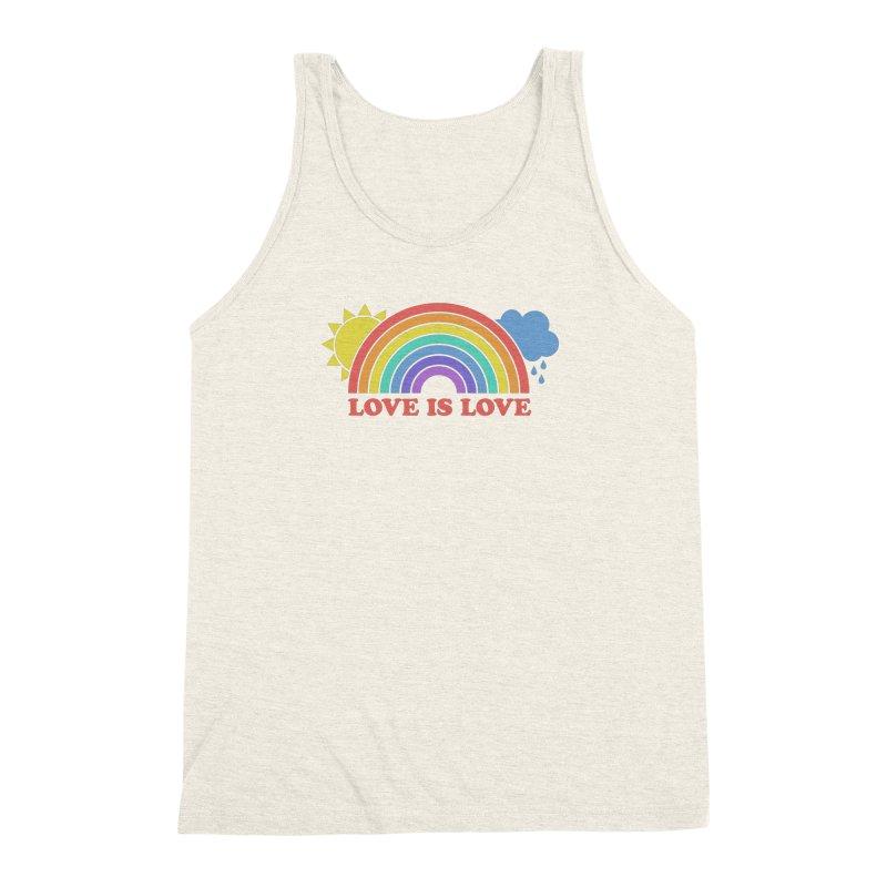 Love is Love Men's Triblend Tank by Calobee Doodles