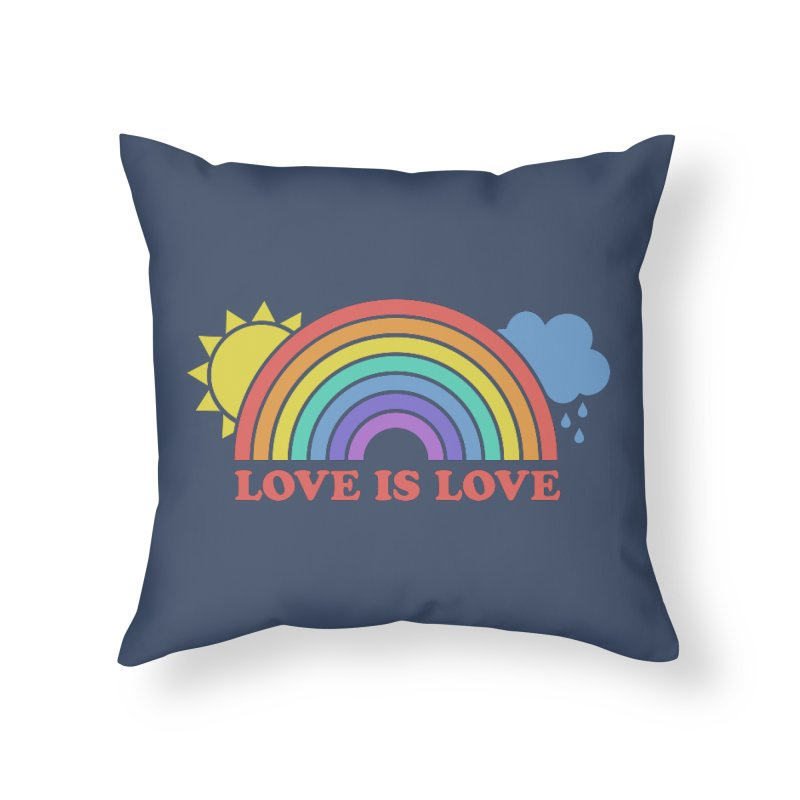 Love is Love Home Throw Pillow by Calobee Doodles