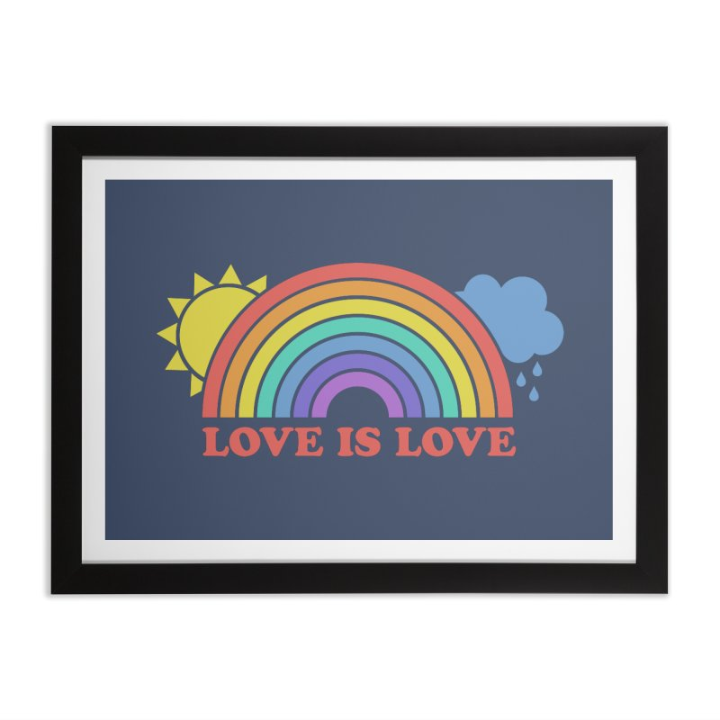 Love is Love Home Framed Fine Art Print by Calobee Doodles