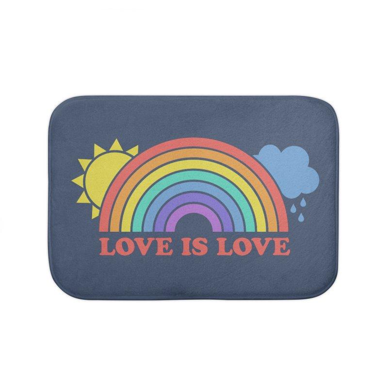Love is Love Home Bath Mat by Calobee Doodles