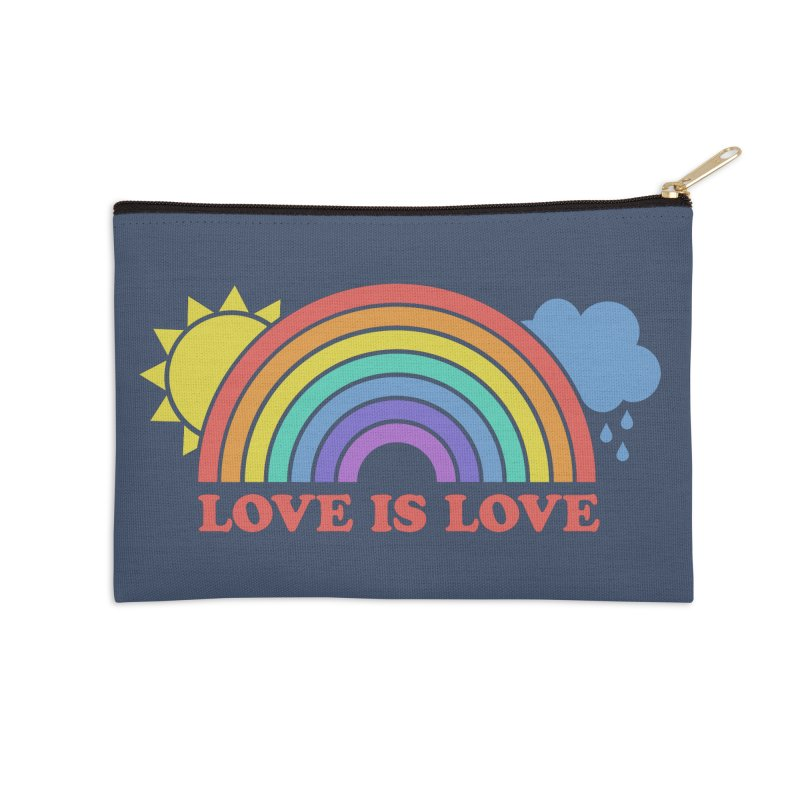 Love is Love Accessories Zip Pouch by Calobee Doodles
