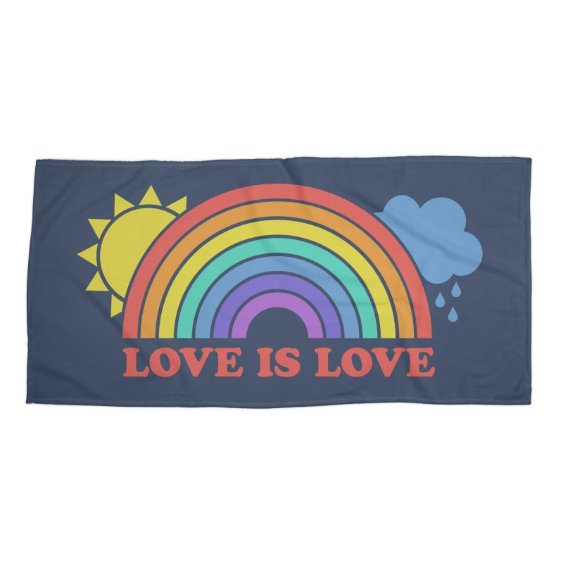 Love is Love Accessories Beach Towel by Calobee Doodles
