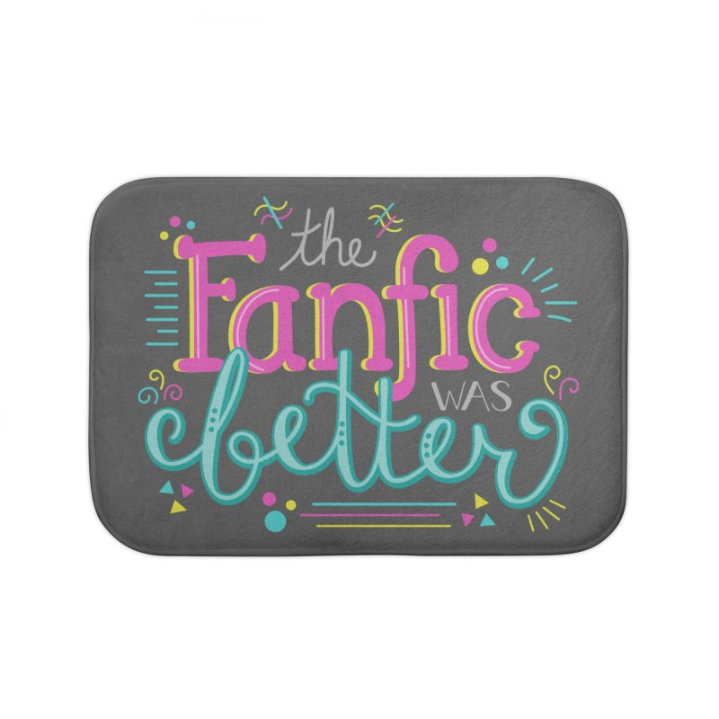 The Fanfic was Better Home Bath Mat by Calobee Doodles